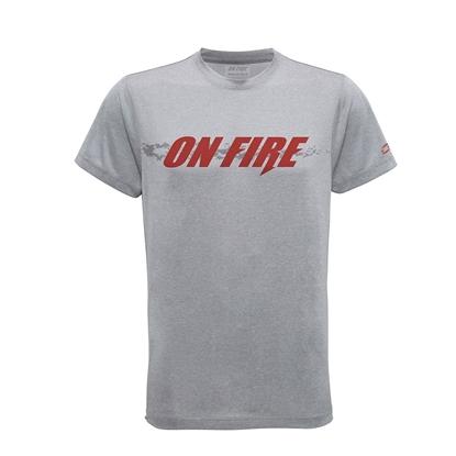 Immagine di T-shirt Grigio Melange On fire