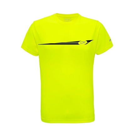 Immagine di T-shirt Gialla Fluo Stripes Black