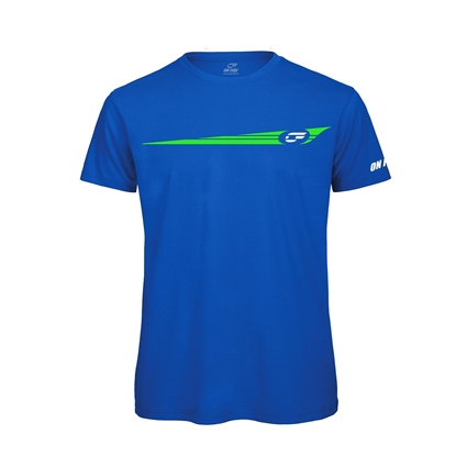 Immagine di T-shirt bambino Blu Royal Stripes Green fluo