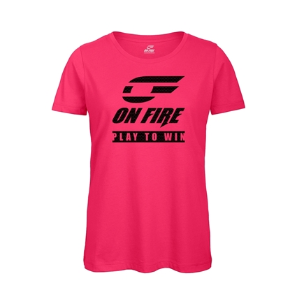 Immagine di T-shirt Cotone Donna Hot Pink - Black