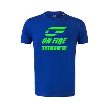 Immagine di T-shirt Cotone Bambino Blu Royal - Green Fluo