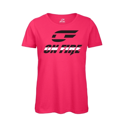 Immagine di T-shirt Cotone Donna Hot Pink - Black&White