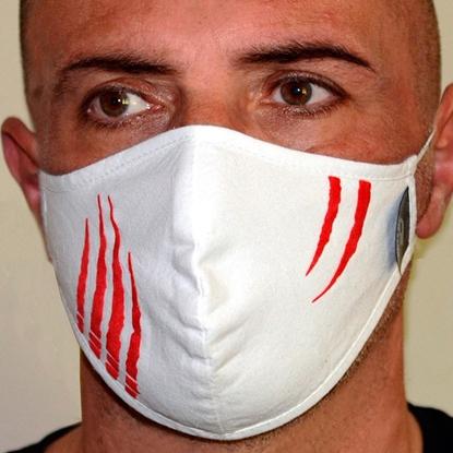 Immagine di Mascherina  bianca uomo protettiva copri viso in cotone 100%