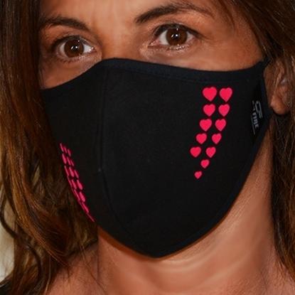 Immagine di Mascherina  nera donna protettiva copri viso in cotone 100%