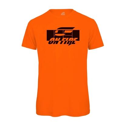 Immagine di T-shirt Cotone Arancio - Nera