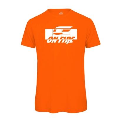 Immagine di T-shirt Cotone Arancio - Bianca